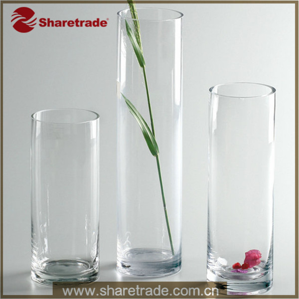 Vase Transparent Pas Cher #15: Trendy High Fashion Plastic Clear Tall Cylinder Vases For Weeding Decoration
