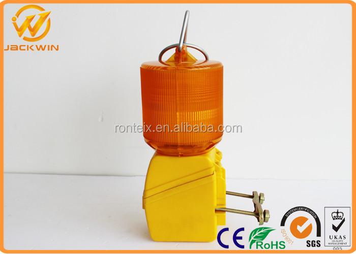 Yellow Mini Flashing Led Strobe Solar Traffic Warning Lights