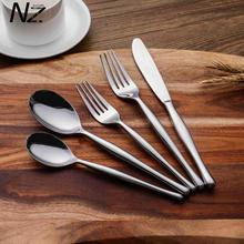 2018 inexpensive silver inox hand forged flatware set