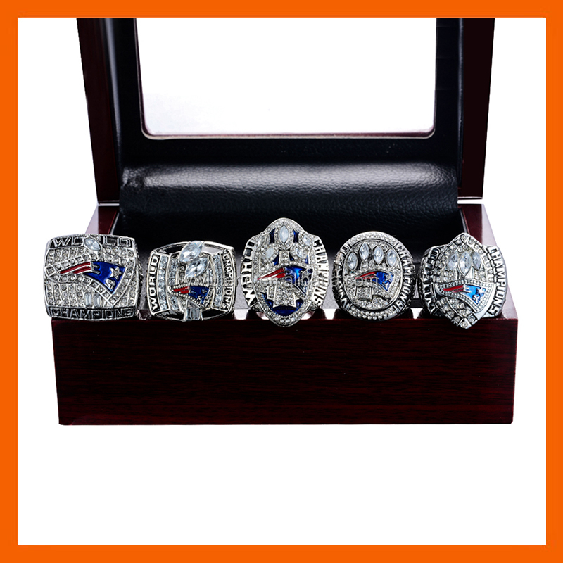 LT JEWELRY 2001 2003 2004 2014 2016 NEW ENGLAND PATRIOTS SUPER BOWL CHAMPIONSHIP RING, 5 PCS RING SET ALL SIZES AVAILABLE