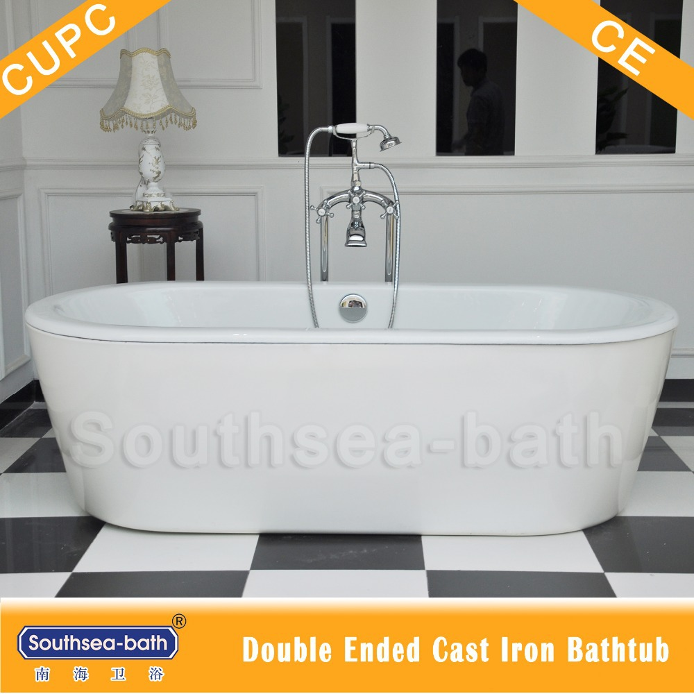 Mirror Polished Cast Iron Bath / Stainless Steel Skirt Cast Iron ...