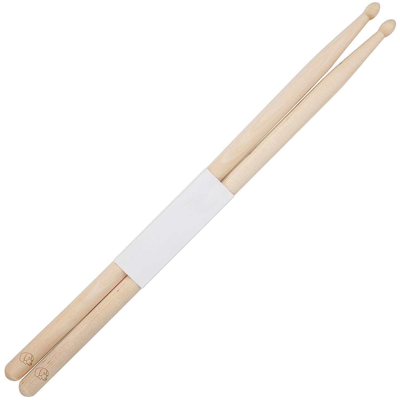 Beagle 5B Maple Drumsticks With Laser Engraved Design - Durable Drumstick Set With Wooden Tip - Wood Drumsticks Gift