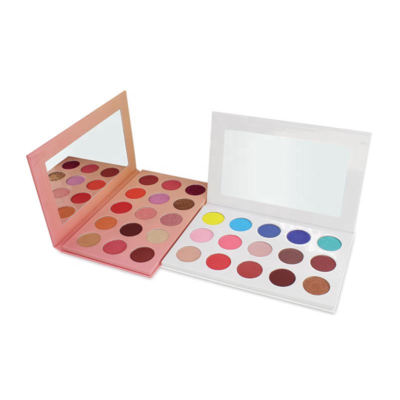 Professionele gezicht make pers individuele blusher, enkele blush met verschillende kleuren