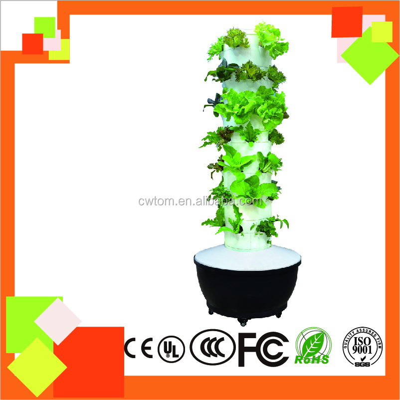 2016 NEW Hydroponics Tower Garden system 6P7 for greehouse/indoor/garden decoration