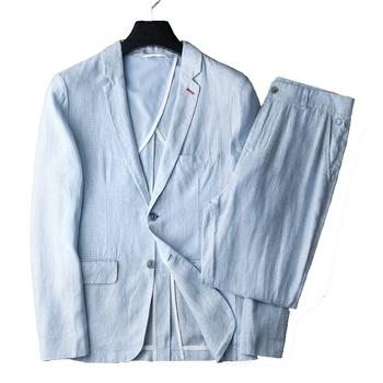 ictus Artistico arteria  2019 New Design Light Blue Summer Blazer 100% Linen Suit For Men - Buy Linen  Suit For Men,Men Linen Suit,Linen Blazer Product on Alibaba.com