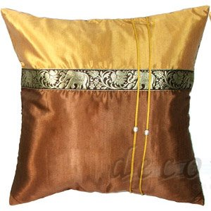 Thai Silk Pillow Cases   Brown / Gold Thai Elephants Design   Buy Silk  Throw Pillows Case Product On Alibaba.com