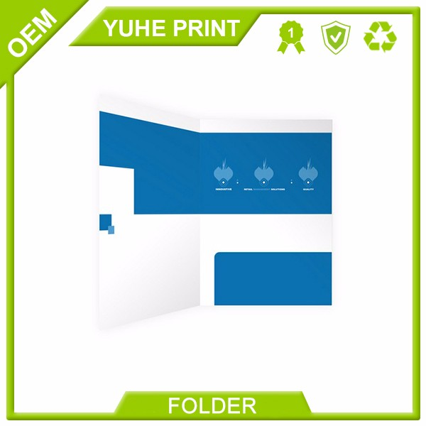 100% Quality Guarantee Wholesale Custom Printed Presentation Folders,Offset Printing Folder,Printable File for Leagel Size