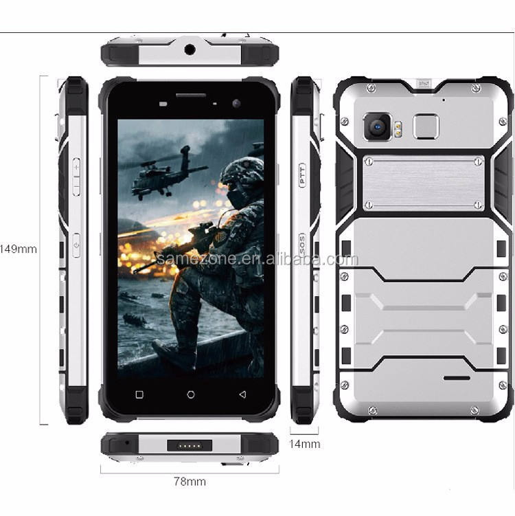 Alta-Rugged Smartphone-Android OS IP68 5 pulgadas pantalla 4G y dual-IMEI