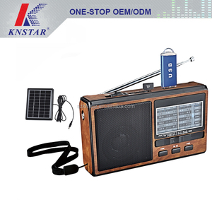 Compact Design Pocket Size Portable AM/FM Radio emergency solar power radio with Built-in Speaker,Earphone Jack,LED