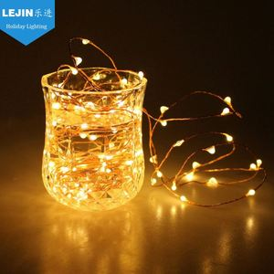Christmas decorative copper wire fairy string light for travel use