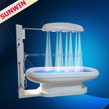 sunwin sw368s vich shower massage table relax therapy water slim capsule machine wet steam