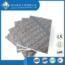 Aluminum film face plywood for bridge construction cleaning teeth