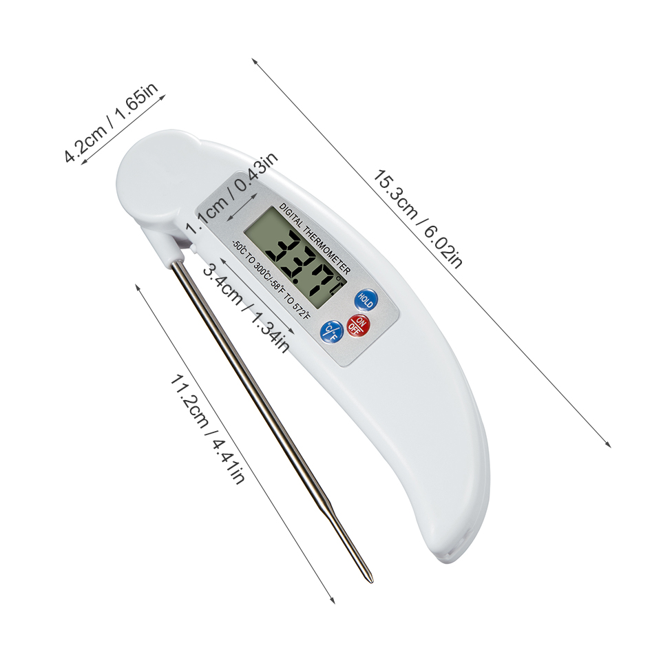 Digital Probe Thermometer Foldable Food BBQ Meat Oven Folding Kitchen Thermometer Cooking Water Oil Tools