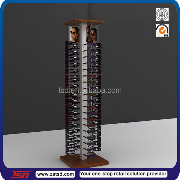 b00debf31e retail store free standing wooden rotating reading or sunglasses glasses  display stand
