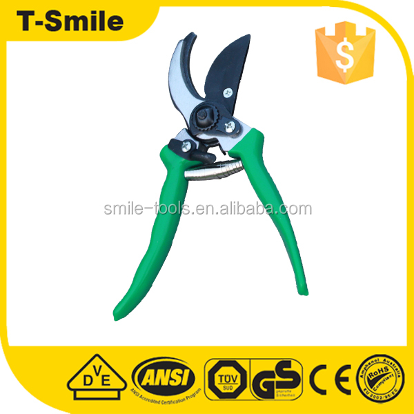 Garden trimming scissors carbon steel pvc handle shear for grapes