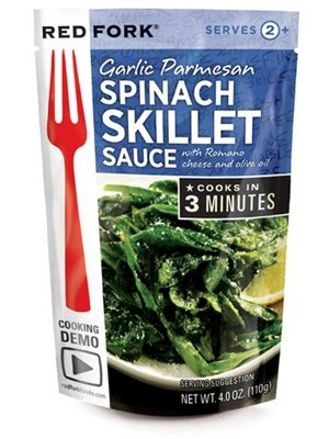 Red Fork Ssnng Pouch Crmy Spinach