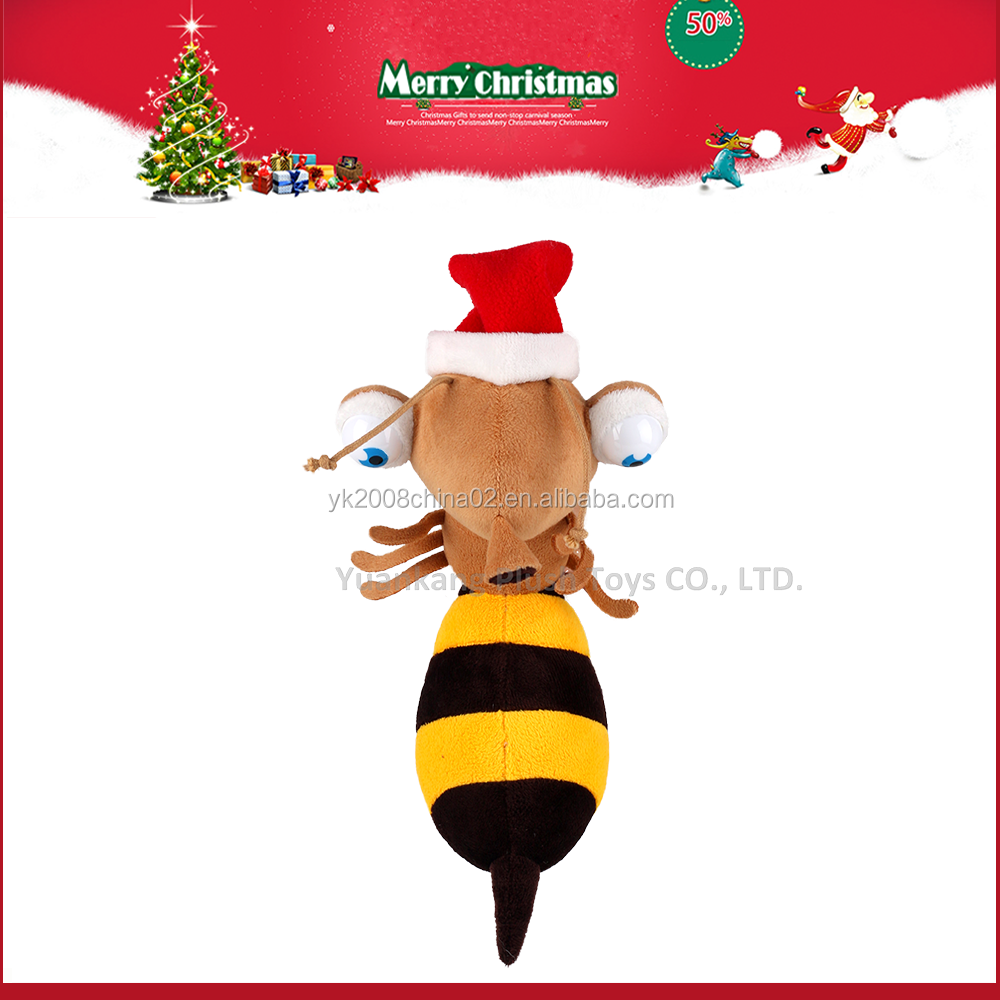 Wholesale 20cm Christmas Plush Stuffed Lovely Bee Toys