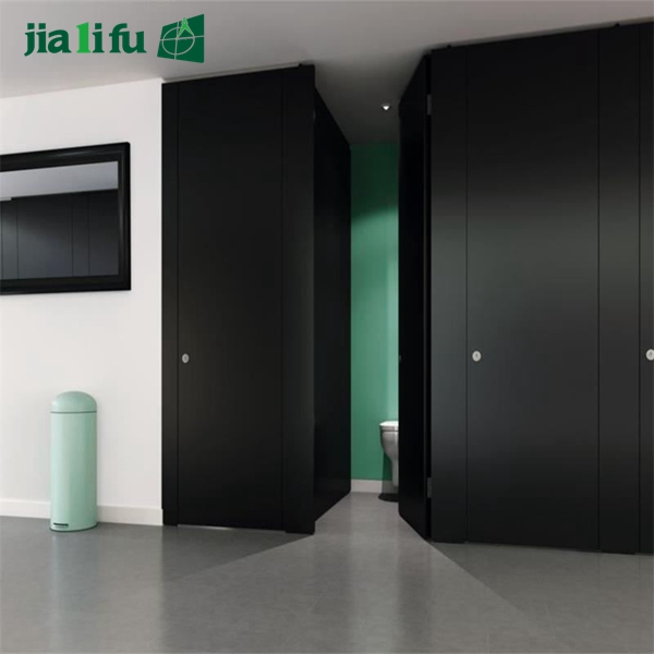 Jialifu customized black shower room partition with nylon accessories