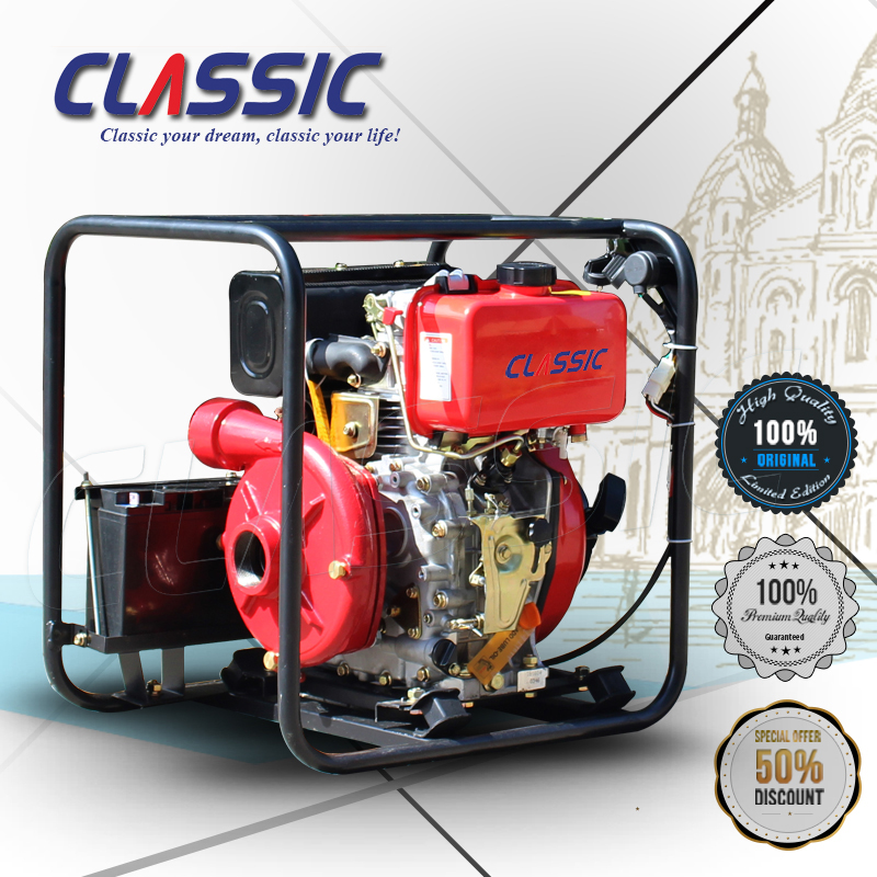 CLASSIC(CHINA) High Pressure 3 inch diesel water pump, High Pump Lift portable diesel water pump, diesel engine irrigation pump