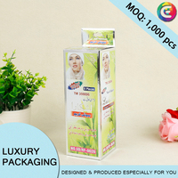 Customized holographic paper gift box for cosmetic products supplier in China