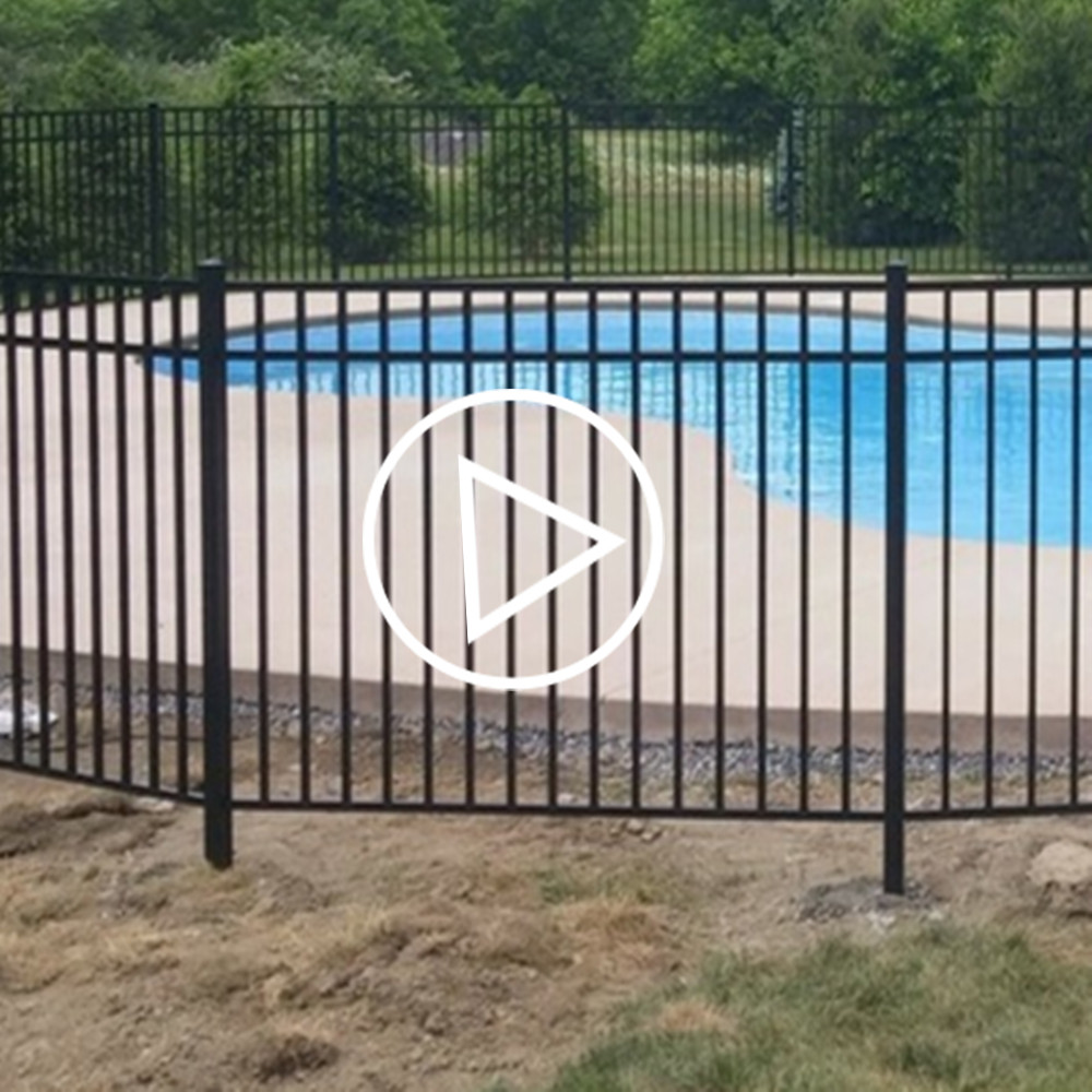 Top quality child safety swimming pool fence