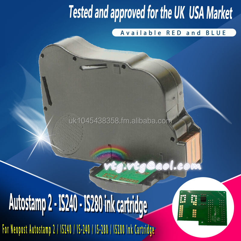 Neopost postal compatible ink cartridge for neopost IS240, neopost IS280, UK and USA coded