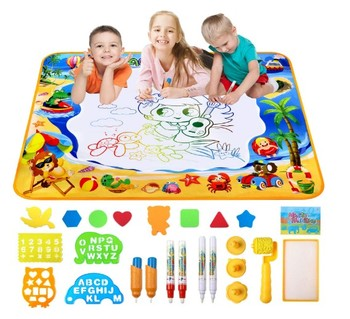 Amazon hot selling Doodle Mat Large Aqua Magic Water Drawing Mat for children KidsEducational Learning Toys