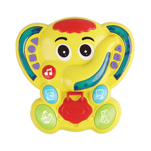 2 in 1 top quality electric elephant learning music chair toy with light and music