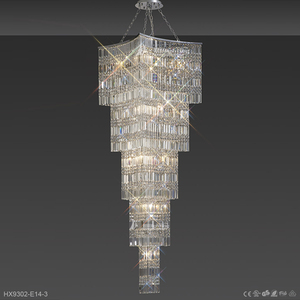 Low price glass modern round crystal led light chandelier