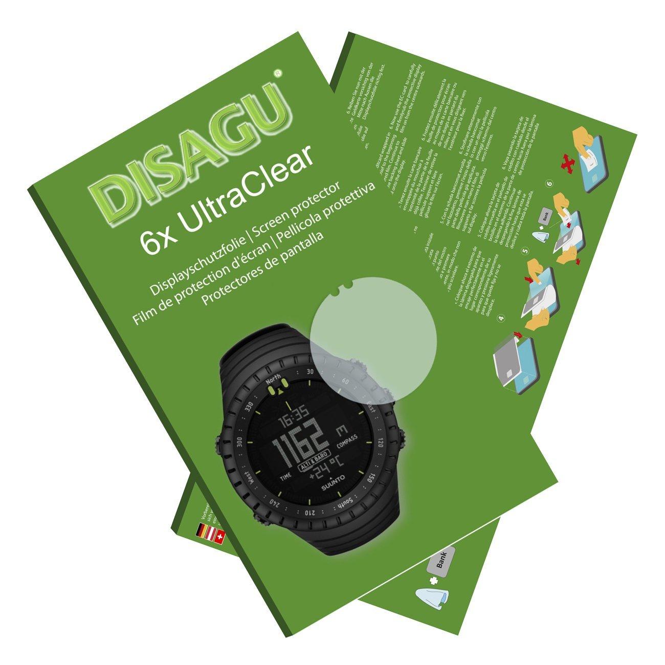 DISAGU 6x Ultra Clear Screen Protector for Suunto Core All Black