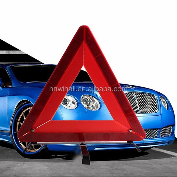 Folding Red Triangle Car Safety Traffic Sign