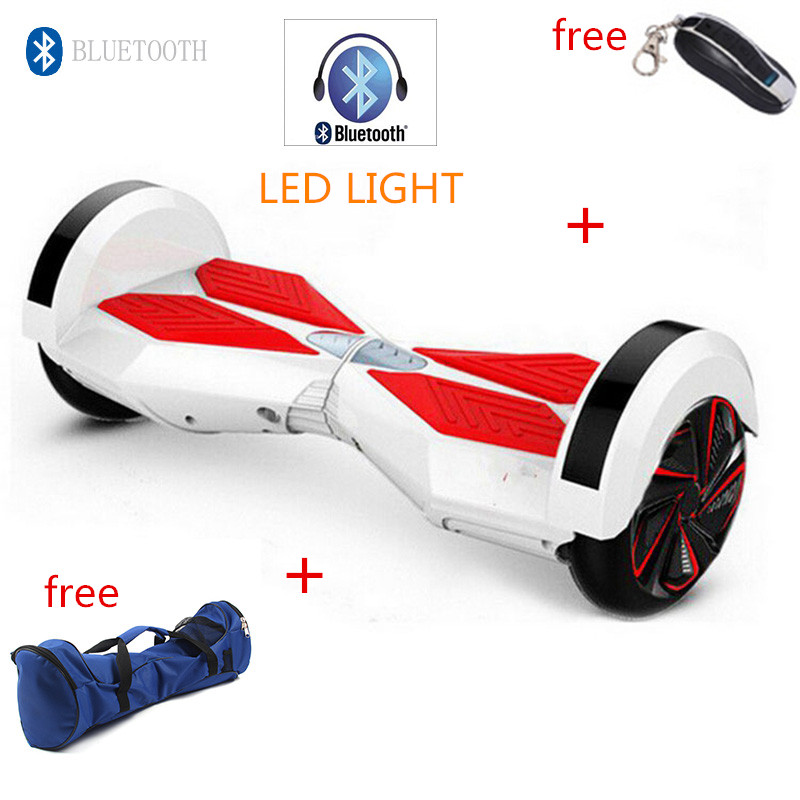 8 inch led bluetooth remote smart self balancing electric. Black Bedroom Furniture Sets. Home Design Ideas