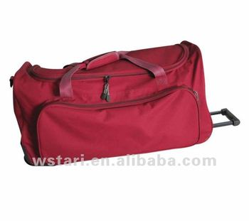Rolling Roller Wheeled Travel Trolley Duffel Holdall Bag For Sale ... da9e8c2e477d4