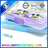 2015 OEM accept green and purple two layers mouse plastic pencil case wholesale online shopping for kids