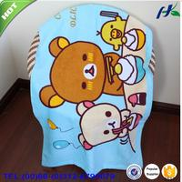 100% cotton character round beach towels