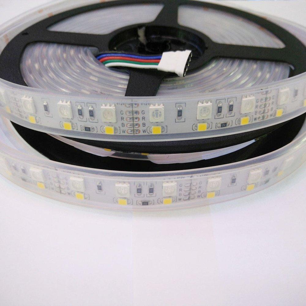 isharestrip Double row 600LED 5m 5050&2835SMD RGBW LED strip RGB+Cool White DC12V IP67 waterproof LED strip 120LED/m Rope Lights
