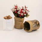 washable waterproof 25kg kraft craft paper bag for Decorative plant bag
