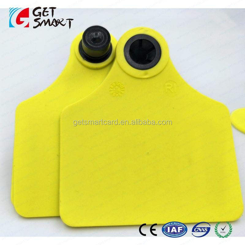 Farming Double square Livestock RFID Animal Ear Tag