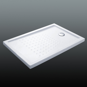 Acrylic Surface Fiberglass Capped Anti Slip Rectangle Bathroom Deep Shower Tray