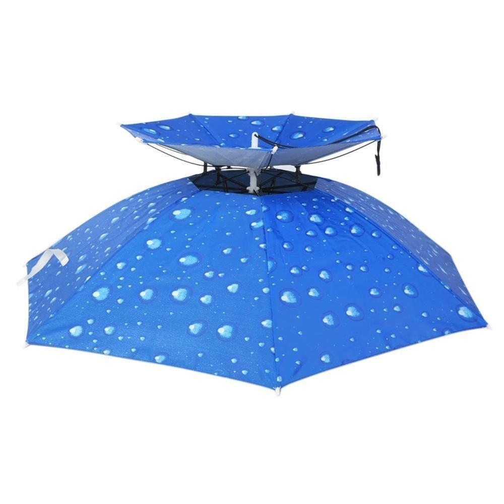 "stand offset patio kids fishing dome hat compact uv head portable duck 18"" head umbrella for doorman"