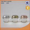 2016 hot sale wholesale food safe glass jar with clip and metal lid