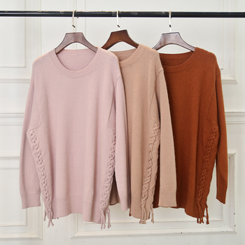 women trend style long sleeve winter loose slim cable up sweater pullover