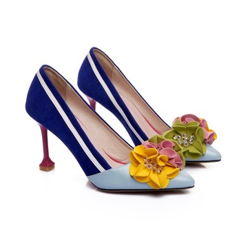 ladies fashion pointed toe flower shoes sexy  women high heels shoes pumps