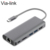 High quality usb-c 3.1 type c adapter usb c hub for macbook VL102+VL817+GL3224+PS176+RTL8153/RTL8153B