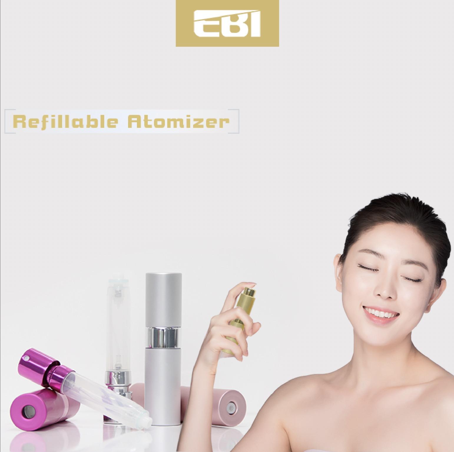 Hervulbare lege spray parfum verstuiver fles 5 ml Roll on glazen fles