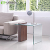 12mm Clear Bent Glass MDF Side Coffee Table Sets
