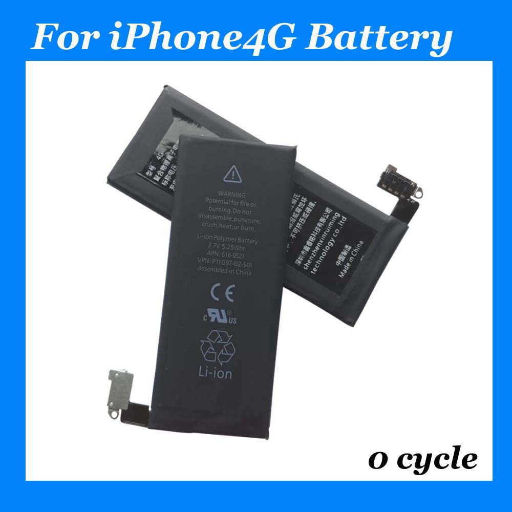 high capacity li ion battery for Apple accessories for iPhone 4 internal replace OEM manufacturer