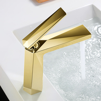 Kaiping bathroom brass golden basin mixer faucets in gold