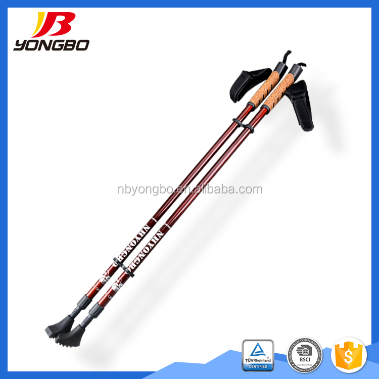 New Style Fashion Aluminum Telescopic 2 sections Trekking Accessories Outdoor Nordic Walking Sticks / Trekking poles