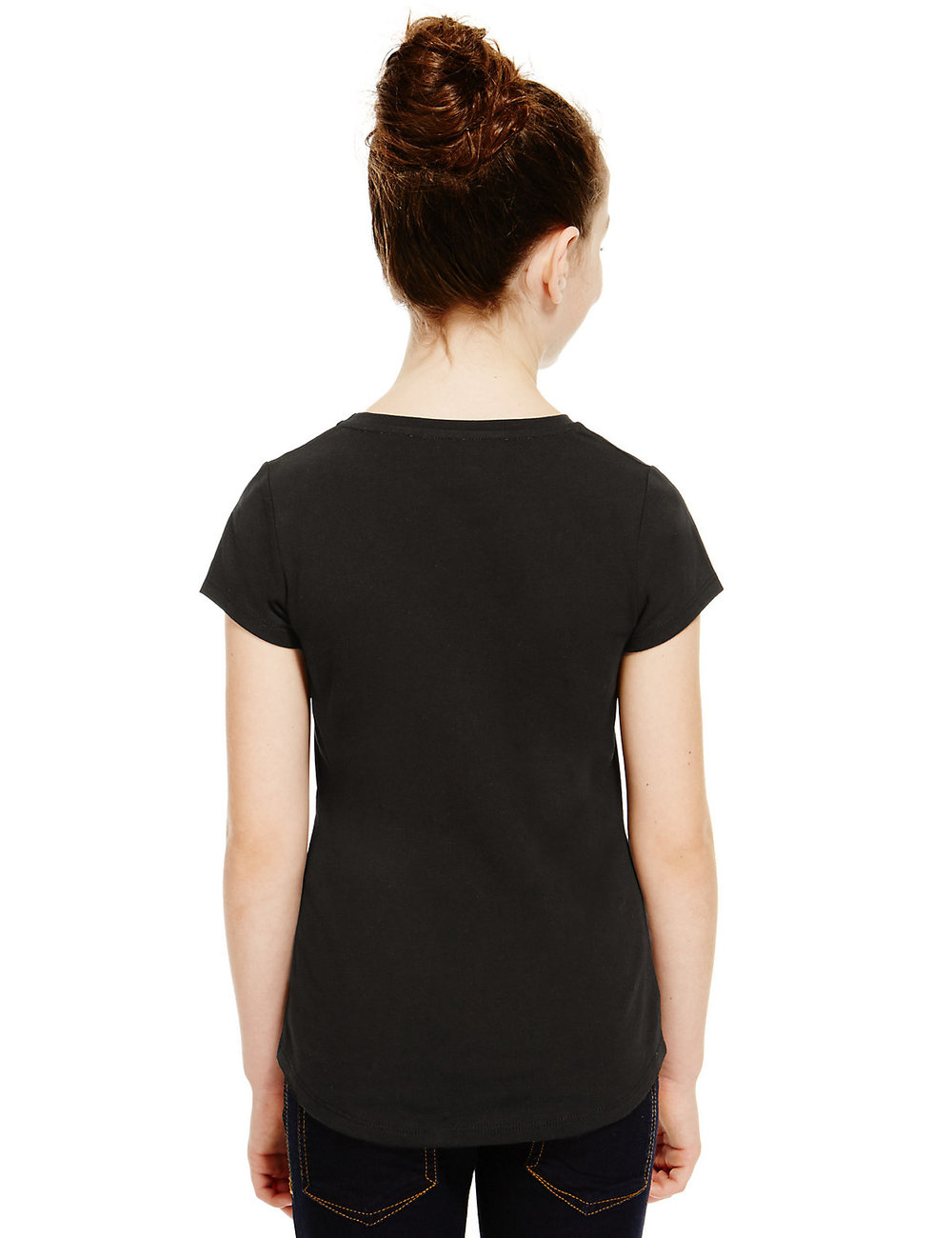 Shirt design for baby girl - Bulk Black Hot Drilling Design Baby Girls Cheap T Shirt Printing